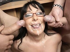 Free Cum on Moms Face Porn Pictures